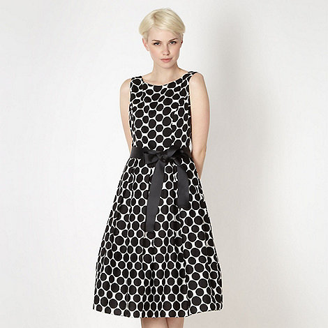 The Collection - Black spotted prom dress
