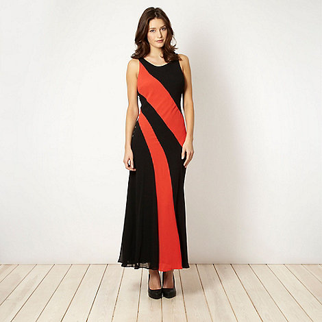 The Collection - Orange colour block maxi dress