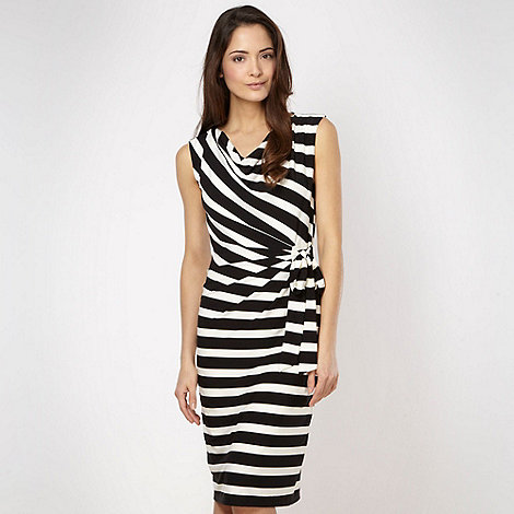 The Collection Petite - Petite white striped jersey dress