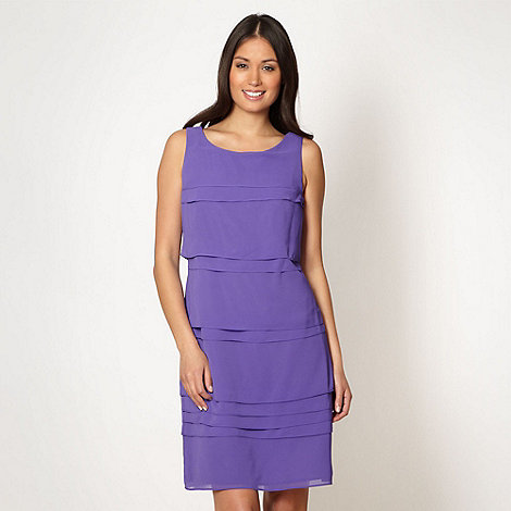 The Collection - Bright purple tiered cocktail dress