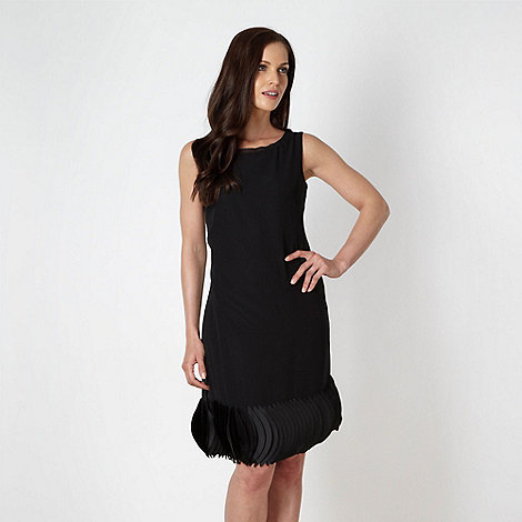 The Collection - Black disc applique dress