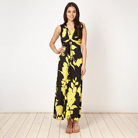 The Collection Petite - Petite yellow floral maxi dress