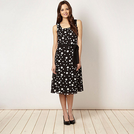 The Collection - Black spotted chiffon dress