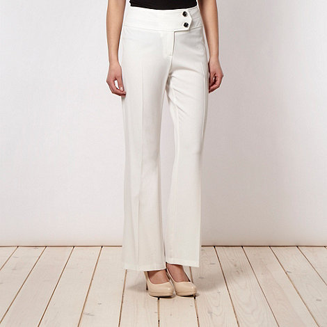 The Collection Petite - Petite ivory bootcut trousers