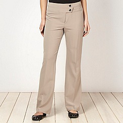 The Collection - Taupe bootcut trousers