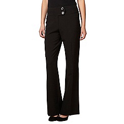 The Collection - Black smart button tab trousers