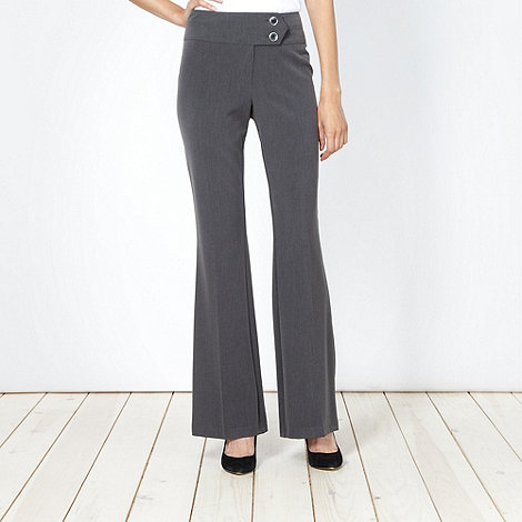 The Collection - Dark grey smart bootcut trousers
