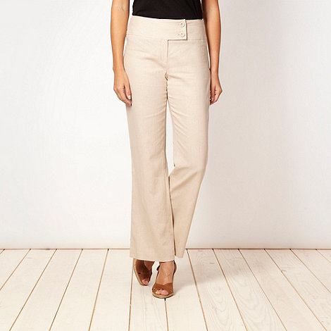 The Collection Petite - Petite natural linen blend trousers