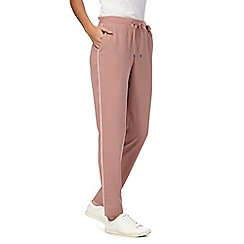 The Collection - Pale pink piped slim trousers