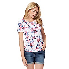 The Collection - White floral tropical print t-shirt