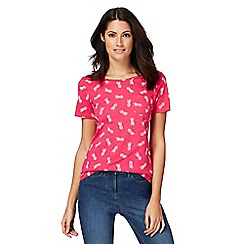 The Collection - Pink pineapple print t-shirt