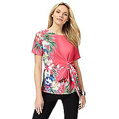 The Collection - Bright pink floral print top