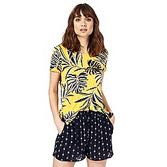 The Collection - Yellow palm print top