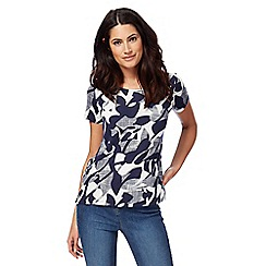 The Collection - Navy floral print top