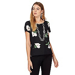 The Collection - Black daisy print top