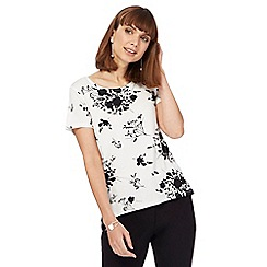The Collection - Ivory floral print top