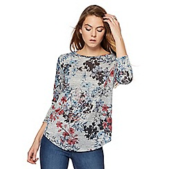 The Collection - Grey oriental butterfly print top