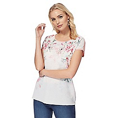 The Collection - Light pink floral print top