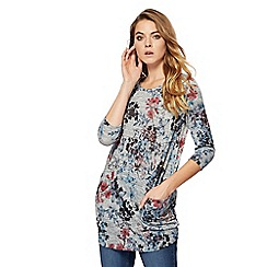 The Collection - Grey oriental butterfly print tunic