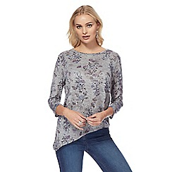 The Collection - Grey long sleeves butterfly print top