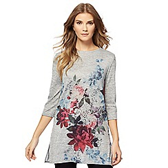 The Collection - Grey rose print tunic