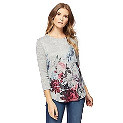 The Collection - Grey rose print top