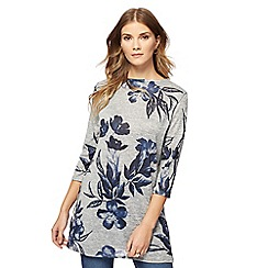 The Collection - Grey flower print tunic
