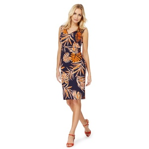 The Collection Orange palm print dress