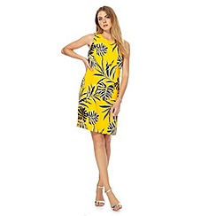 The Collection - Yellow floral print plus size shift dress