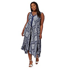 The Collection - Navy patch print plus size dress