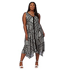 The Collection - Black patch print plus size dress