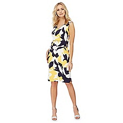 The Collection - Yellow floral abstract print dress