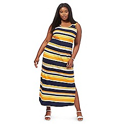 The Collection - Orange striped plus size maxi dress
