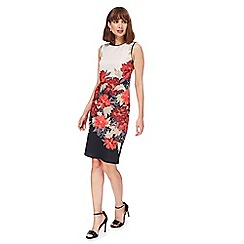 The Collection - Multi-coloured floral print scuba dress