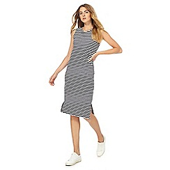 The Collection - Navy striped knee length shift dress