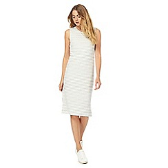 The Collection - Grey striped knee length shift dress