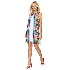 The Collection - Multi-coloured tropical layered dress