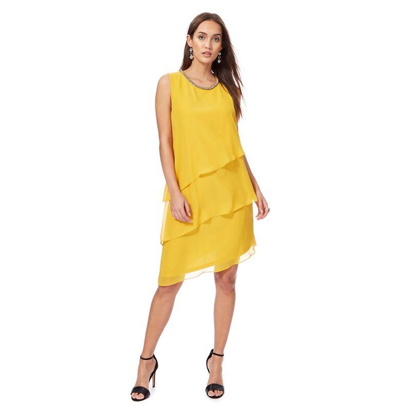 The Collection Dark yellow chiffon shift dress