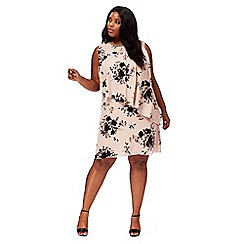 The Collection - Light pink floral print plus size dress