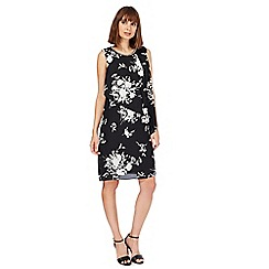 The Collection - Black floral shift dress