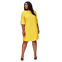 The Collection - Dark yellow plus size shift dress