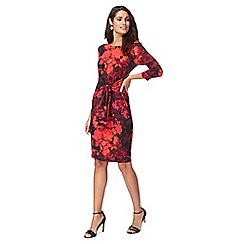 The Collection - Red floral print shift dress