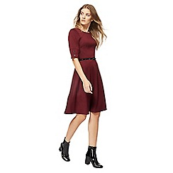 The Collection - Wine red knee length skater dress