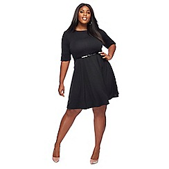 The Collection - Black knee length plus size dress