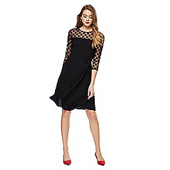 The Collection - Black 3/4 sleeve knee length dress