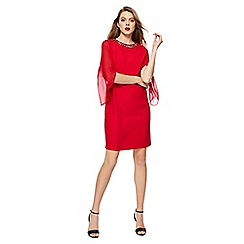 The Collection - Red long sleeve knee length shift dress