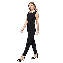 The Collection - Black beaded plus size jumpsuit
