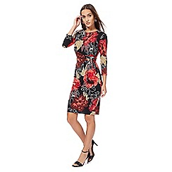 The Collection - Multi-coloured floral print wrap dress