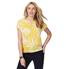 The Collection - Yellow floral print t-shirt