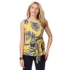 The Collection - Yellow floral tie front top